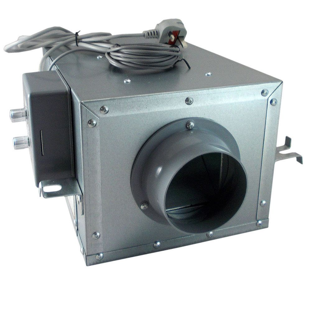Acoustic Inline Duct Fan With Temperature Control All Sizes